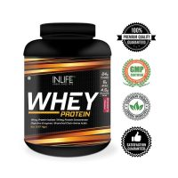 Inlife Whey Protein Powder Body Building Supplement (Strawberry Flavour)