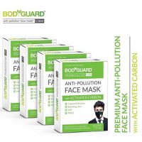Bodyguard Anti Pollution Face Mask with Activated Carbon, N99 PM2.5 (Pack Of 4)