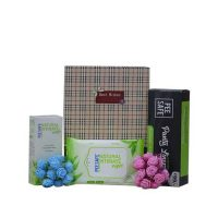 PeeSafe Natural Wipes, Panty Liners with Intimate Wash Gift Hamper