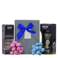WOW Charcoal Face Wash, Scrub Gift Hamper