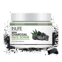 inlife activated charcoal face scrub
