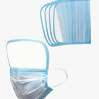 3 ply disposable face mask with shield