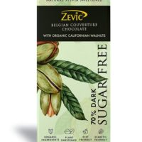 Zevic Belgian Couverture Chocolate with Organic Californian Walnuts 90gm