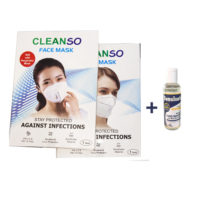 Cleanso N95 Face mask with Sensisafe Hand Sanitizer