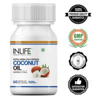 INLIFE Extra Virgin Cold Pressed Coconut Oil Capsules